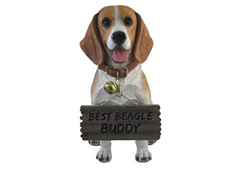 World Of Wonders Buddy the Beagle Dog Statue with Reversible Sign