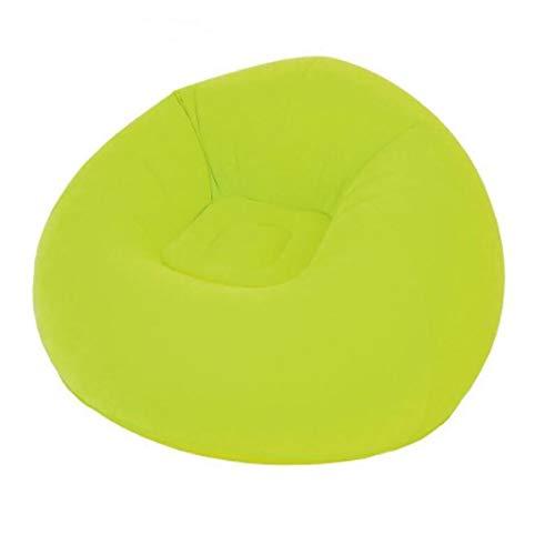 HIUHIU Playa de la Moda Creativa cojín Hinchable colchón de Aire Que acuden sofá Inflable sofá Almuerzo Perezoso Almohadilla Sala de Descanso Silla para Dormir,Verde