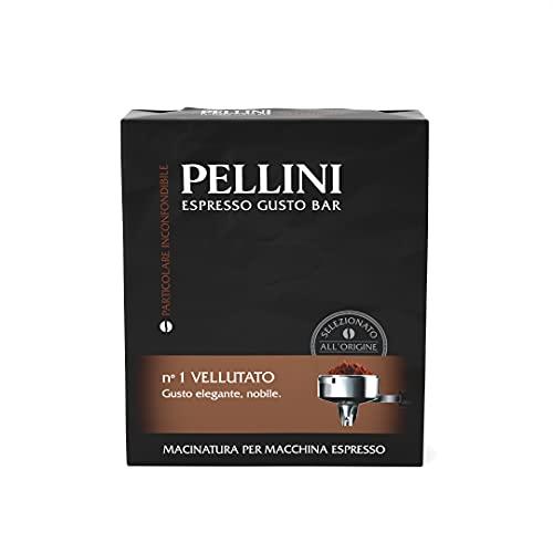 Pellini Caffè Espresso Gusto Bar N° 1 Vellutato, 2 x 250 g