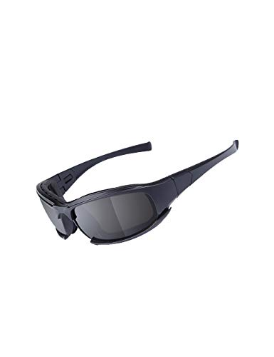 MOKAYA Gafas de Sol polarizadas del ejército, Gafas Militares, 4 Lentes del Kit de Lentes tácticas