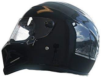 CRG Sports ATV Motocross Motorcycle Scooter Full-Face Fiberglass Helmet DOT Certified ATV-4 Matte Black Size XX-Large