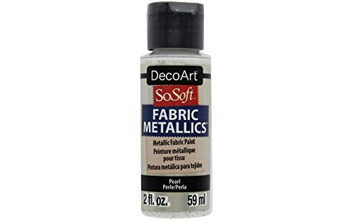 Deco Art SoSoft Fabric Acrylic Metallic Paint 2oz-Pearl