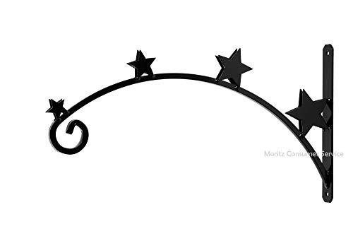Soporte de pared para estrellas de Navidad, curvado, con 4 estrellas