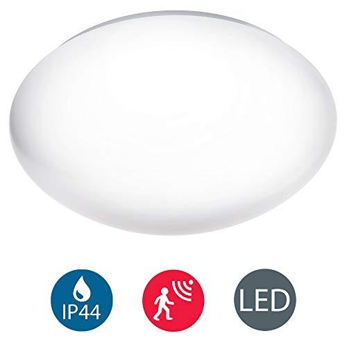 LED Deckenleuchte mit Radar-Bewegungssensor, Badezimmer geeignet, Bewegungsmelder, Deckenlampe, Außenbeleuchtung, Opalglas, IP44