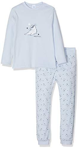 Sanetta Baby-Jungen Pyjama Zweiteiliger Schlafanzug, Blau (Light Blue 50137), 80 (Herstellergröße: 080)