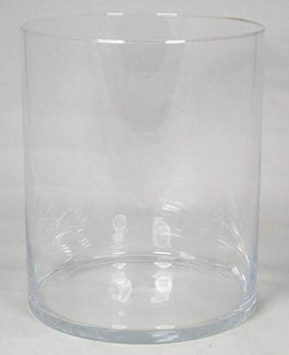 INNA-Glas Große Vase Roman, Zylinder - rund, klar, 30cm, Ø 25cm - Glasvase - Zylindervase