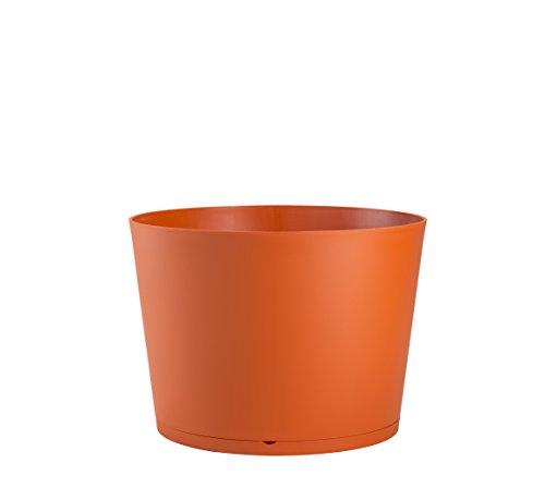 GROSFILLEX Bac à Plantes Tokyo Diamètre 50, Orange Brulé, 47,5 x 47,5 x 33,3 cm