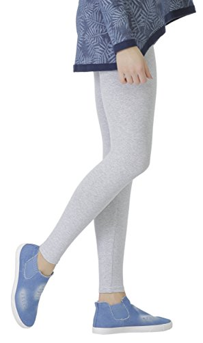 BeLady Damen Leggings Knöchellang aus Baumwolle Blickdichte Leggins Viele Farben (Grau, 5XL - 50)