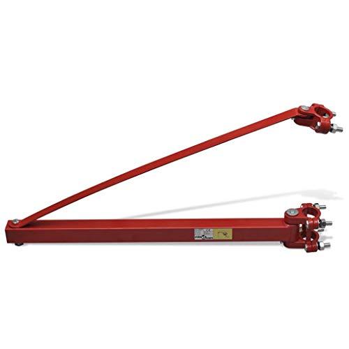 tidyard Hubgerüst Stahl 600 kg Träger Halterung Schwenkarm für Seilwinde Seilzug Hebezug