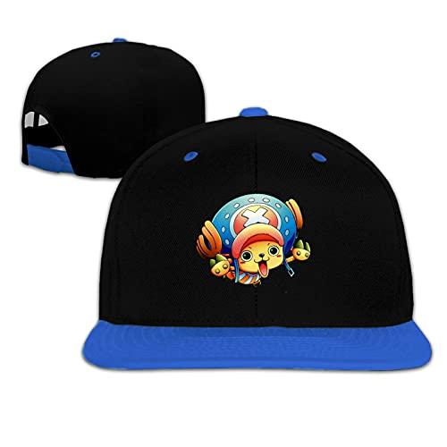 Funny Club Niños Snapback Cap de una pieza Chibi Hat Flat Peak Hat Gorra de béisbol para niño niña