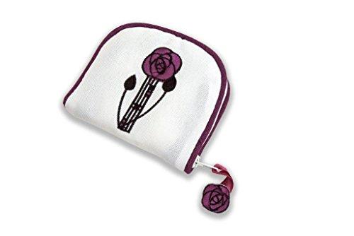 Borsa di gioielli in un Mackintosh rose design Mauve