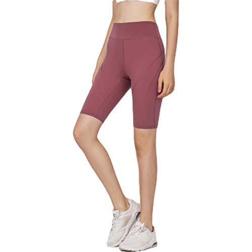 Pantalones Cortos Deportivos Informales elásticos Ajustados para Mujer, Pantalones Cortos Deportivos para Correr, de Cintura Alta, Transpirables, de Secado rápido, para Levantar la Cadera, para Large