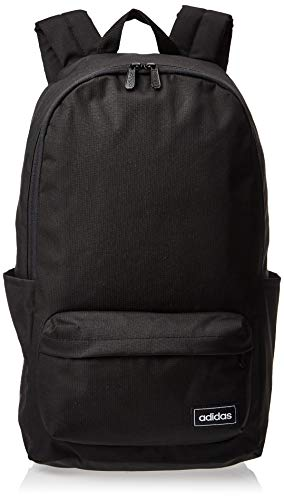 Adidas Unisex Polyester Classic 3-Stripes Backpack (Black)