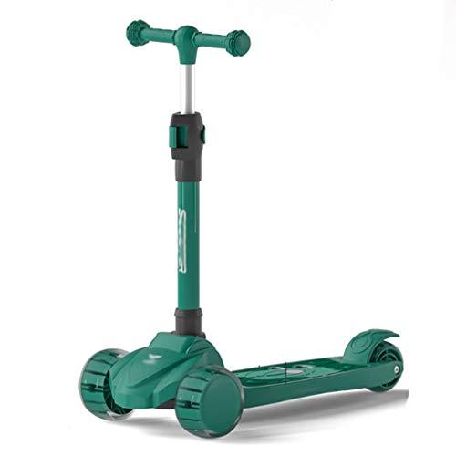 Sichere Kinder Roller Scooter Mit Music Light Scooter für Kinder Kleinkinder-Roller, einstellbare Höhe faltbarer...