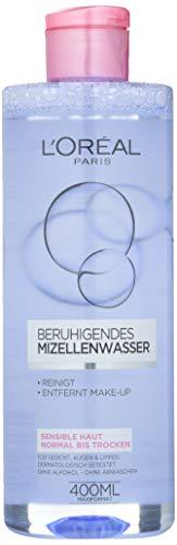 L\'Oréal Paris Gesichtsreinigung, Beruhigendes Mizellenwasser und Make-Up Entferner zur Reinigung und Pflege, Skin Expert, 3 x 400 ml