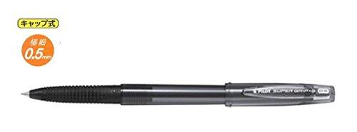 パイロット 油性ボールペン スーパーグリップG・キャップ式0.5mm 極細 黒軸黒芯 BSGC-10EF-BB 10本組み