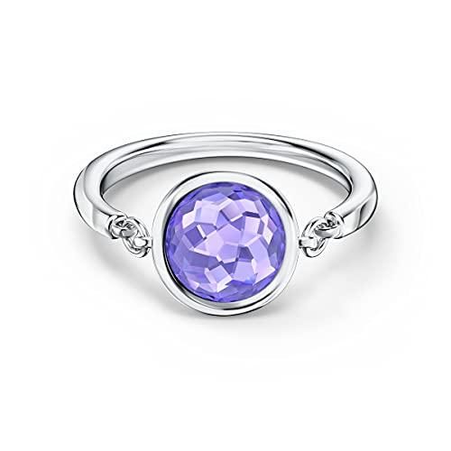 Swarovski Anillo Tahlia, violeta, baño de rodio