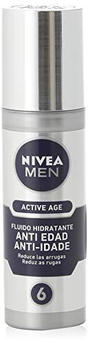 NIVEA MEN Active Age Fluido Hidratante Anti-edad (1 x 50 ml), cuidado facial de día para hombre, hidratante antiedad para reducir las arrugas de la piel madura