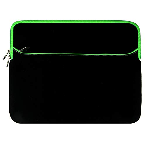 Green Protective Travel Laptop Sleeve 15 15.6 inch for Lenovo IdeaPad S540 S340 L340 S145, Legion Y740 Y545 Y540, ThinkPad P1 Gen 2 T590 P53s E595 E590 L590 P53, V130, Yoga C740 ChromeBook Laptop
