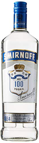 Smirnoff Blue No. 57 Export Strength Premium Vodka (1 x 1 l)