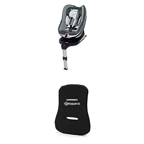 Foppapedretti Uniko I-Size Seggiolino Auto per Bambini con Altezza da 40 a 95 cm (fino a 18 Kg), Grey + Dispositivo Antiabbandono, Nero