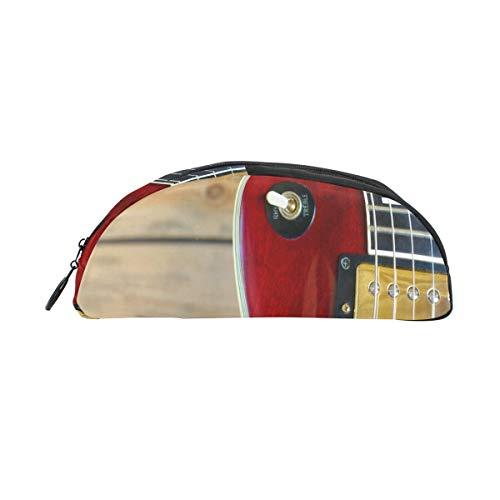 Bolsa lápices con cremallera Guitarra eléctrica Aficionados a la música Bolígrafo Organizador...