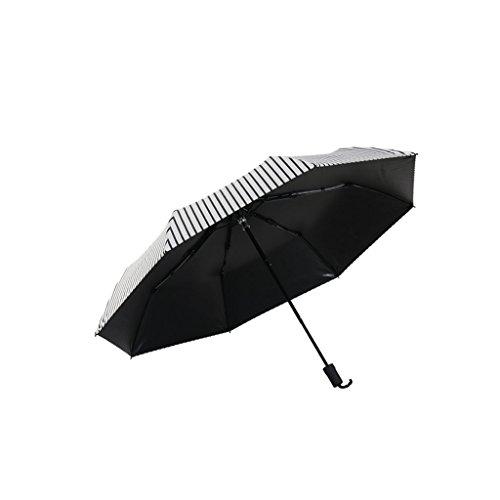 XiuHUa Compact Travel Paraplu-Automatische Zon Paraplu Paraplu Dual-use Gestreepte Paraplu Vouwen Mannelijke paraplu standaard