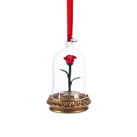 Figurine Disney La Rose lumineuse dans La Belle et la Bête – Déco de Noël