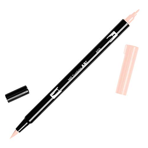 Tombow ABT-850 Fasermaler Dual Brush Pen mit zwei Spitzen, Light Apricot