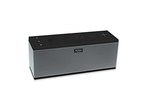 Xoro HXS 910 leistungsstarker Multiroom WLAN Lautsprecher (mit Akku, Freisprechfunktion, NFC, Bluetooth 2.1 EDR, 15 Watt, Powerbankfunktion) silber