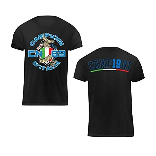 MAESTRI DEL CALCIO Maglia T-Shirt Curva Nord Scudetto 2020/2021 Campioni d'Italia Adulto (LUKAKU, HAKIMI, Conte, LAUTARO, Eriksen)