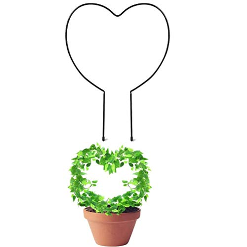 Prevessel Soporte para plantas para escalar, estante decorativo de flores en maceta, soporte de metal para plantas resistente y duradero para jardín, patio, interior y exterior