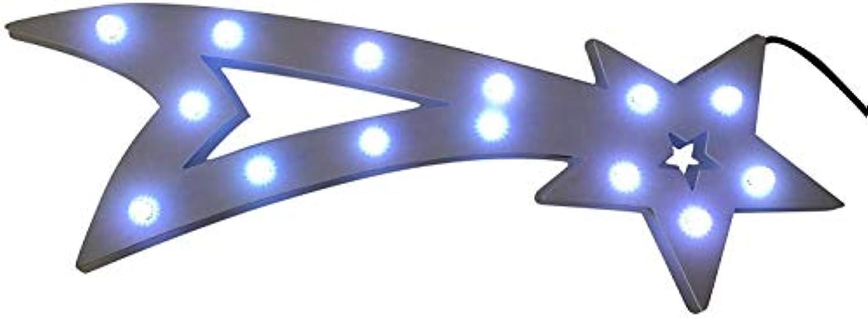 Innenrume Drauen Lichterketten Led Streifen Weihnachts Innenbe Auenbe Lauflichter Lichtschluche Fenstersilhouette, Kunststoff, wei, 60 x 20 x 2 cm