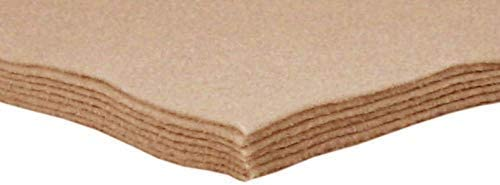 Acrylic Ranking TOP3 Felt Manufacturer direct delivery Tan Camel Sheets Crafts 9x12 for