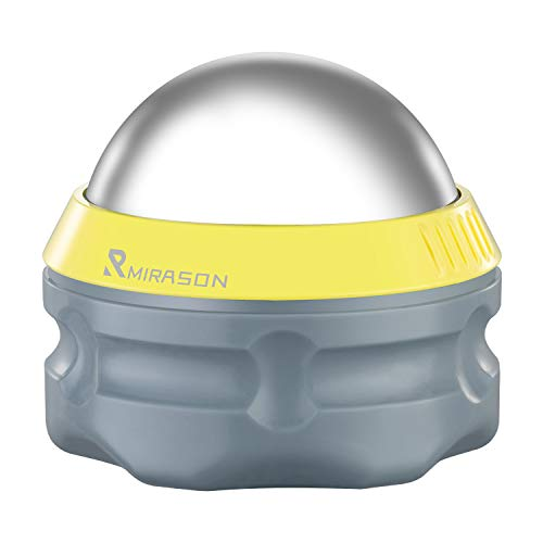 MIRASON Massage Ball Ice Roller Cold Therapy Cryosphere Deep Tissue Manual Massage Ball Stay Cold or Hot for Sore Muscle Relief, Shin Splints, Sore Shoulders, Knee, Foot Recovery Ice Pack (Yellow)