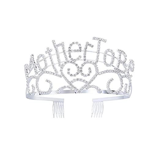 1 unid Madre para ser Tiara Silver Hearts Crown Linda Headbands Baby Shower Favors Favores Suministros Gran regalo para nuevos accesorios para mamá para uso diario
