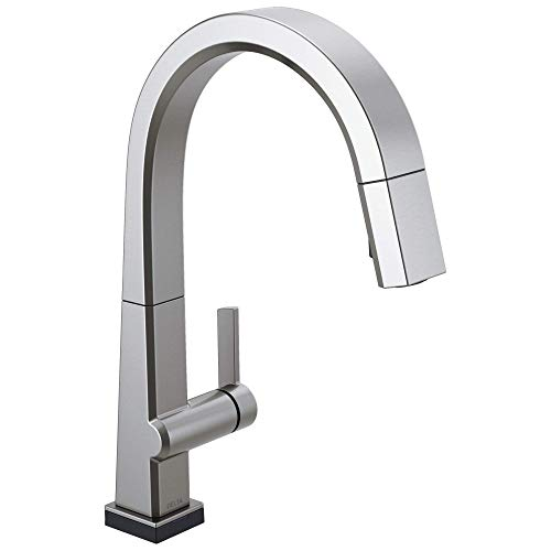 DELTA Pivotal Single-Handle Touch Kitchen Sink Faucet with Pull Down Sprayer, Touch2O Technology and...