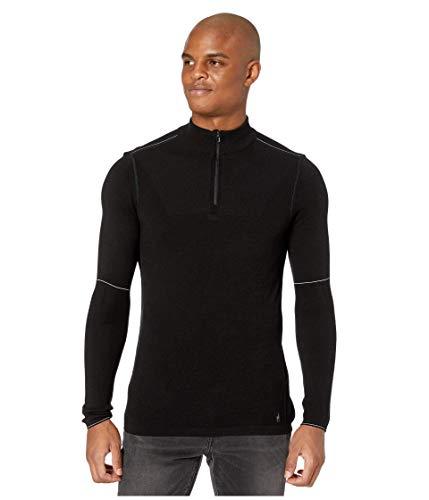 Smartwool Men's Base Layer Zip - Merino 250 Wool ¼ Zip Long Sleeve Jacket Black M