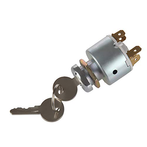 Yersul 31973K4183 SPB501,551508G Lucas Waterproof Ignition Key Starter Switch with 3Position 5 Terminal Wire 2 Keys Suitable for Cars, Motorcycles, Boats Tractor,Trailer,Digger,Agricultura