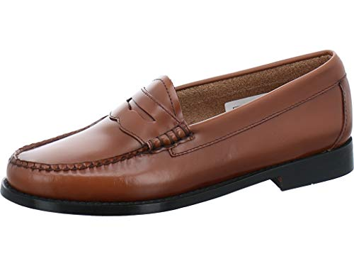G.H. Bass & Co. Women's Penny Loafers, Brown Cognac Leather 0cg, 10
