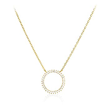 white gold karma necklace