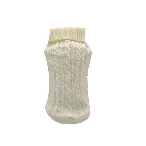 XZHH Cat gebreide trui voor de winter, winter, herfst, S (in vi, Wit