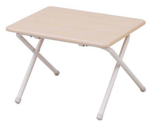 山善(YAMAZEN) テーブル ミニ 折りたたみ式 サイドテーブル 幅50×奥行44×高さ35cm ロータイプ ナチュラルメ...