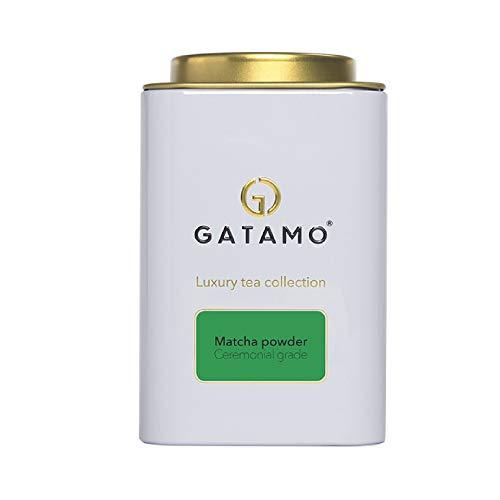 GATAMO Matcha Grüner Tee Pulver, nach traditioneller Japanischen Art, Grüntee für Smoothies, Latte, ohne Zusätze, Wohlfühlzeit, Luxury Tea Collection, wiederverschließbare Verpackung, 100 g