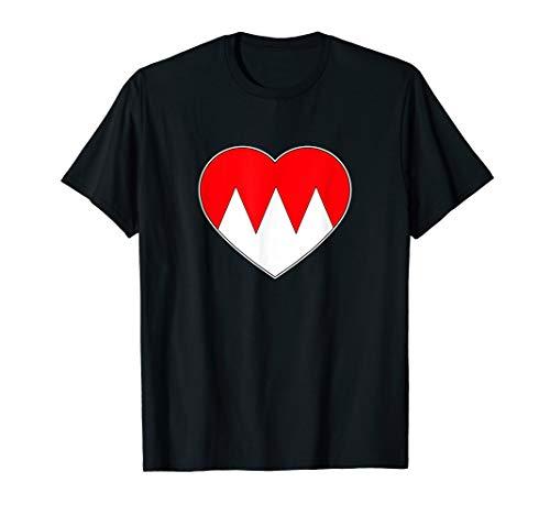 Fränkischer Rechen Herz Liebe Wappen Franken Flagge T-Shirt