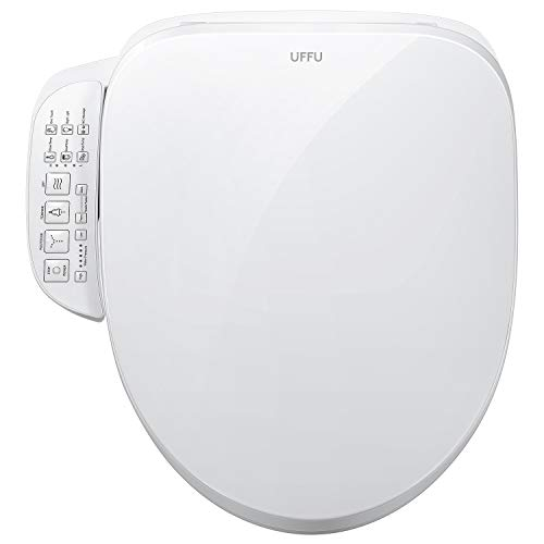 UFFU C200e Bidet Electric Toilet Seat with Control Panel,Smart Heated Elongated Toilet Seat with Warm Air Dryer and Temperature Controlled Wash Functions (Control Panel)