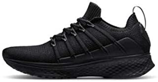 chip - New for Xiaomi Mijia Sneaker 2 Running Shoes Uni-moulding Techinique Fishbone Lock System Elastic Knitting Vamp Shock-absorbing Sole (Black Size44)
