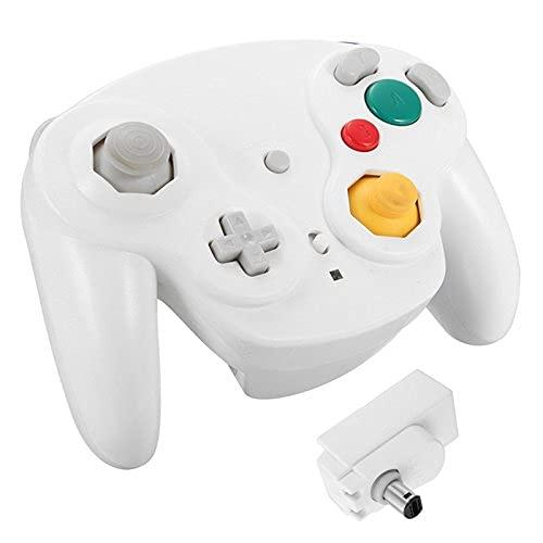 Tagge Controlador inalámbrico 2.4G Gamepad + Receptor para Nintendo Gamecube NGC Wii (Blanco)