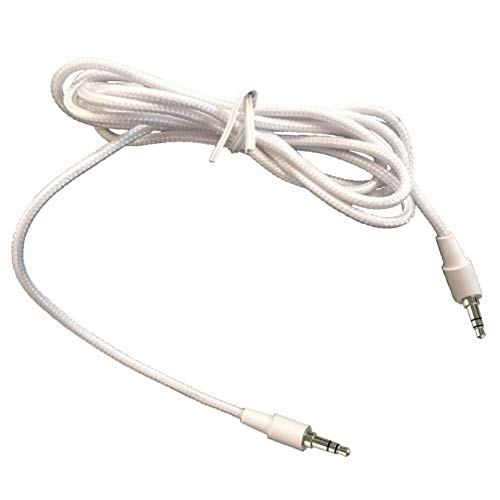 VM Audio 3.5mm Auxiliary Sound Stereo 5-Foot Tablet Smartphone Car Cable, White
