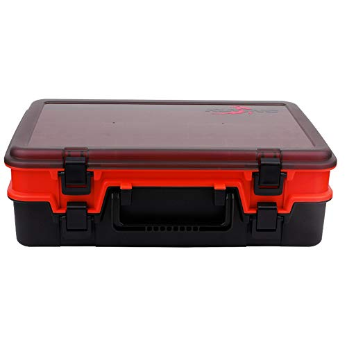 FENGSHUAI Fishing Tackle Box met dubbele laag, multifunctionele opbergdoos, gereedschapskist met grote capaciteit